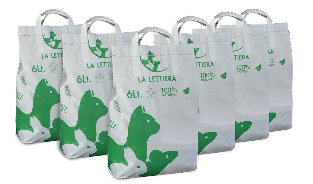 lalettiera ecologica e biodegradabile 6 sacchi